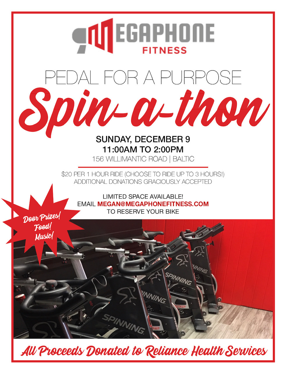 Megaphone Fitness hosts Pedal for a Purpose SPIN-A-THON